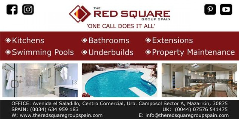The Red Square Group S.L for all building, construction and property maintenance covering Murcia areas.