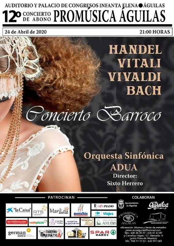<span style='color:#780948'>ARCHIVED</span> - Friday 24th April Classical Baroque at the Águilas Auditorium