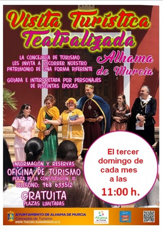 Sunday 17th May Free theatrical guided tour of Alhama de Murcia