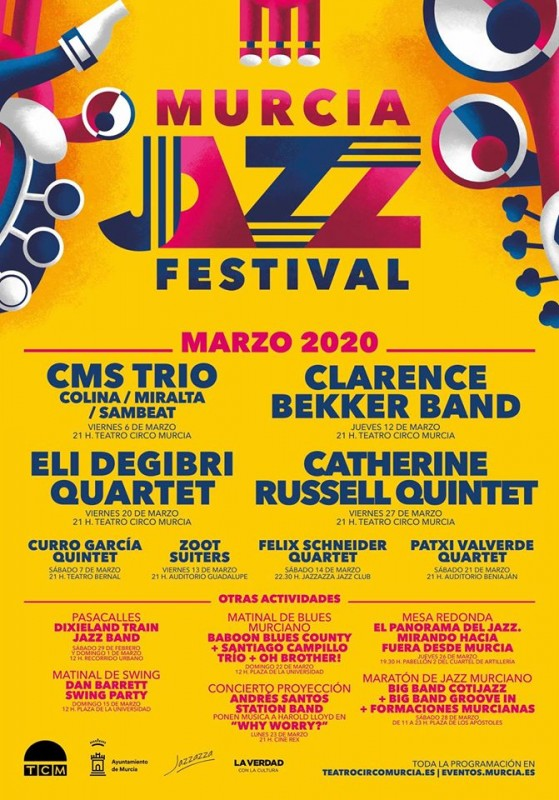 <span style='color:#780948'>ARCHIVED</span> - 6th to 28th March, Murcia Jazz Festival 2020