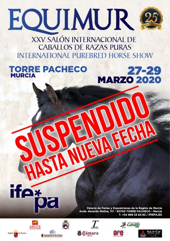 <span style='color:#780948'>ARCHIVED</span> - IFEPA EQUIMUR  horse show postponed