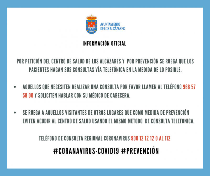 <span style='color:#780948'>ARCHIVED</span> - Los Alcázares cancels street markets, cancels events and closes municipal installations
