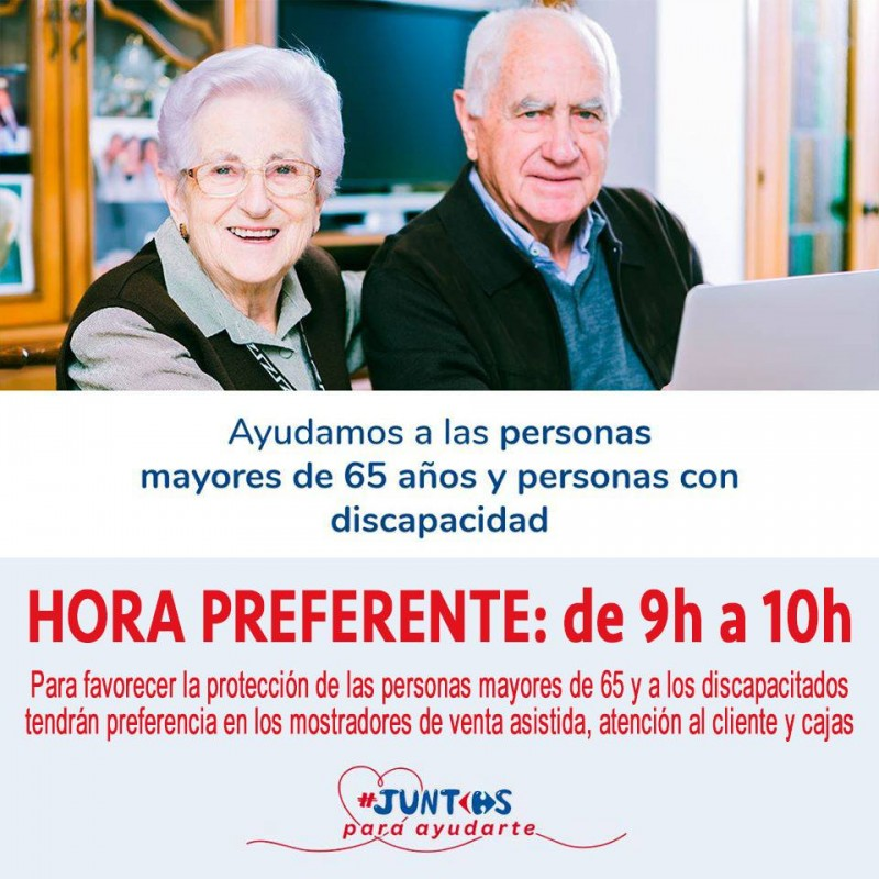 Special shopping hour for the elderly in Águilas