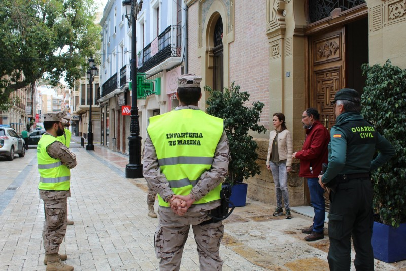 Marines from the Tercio de Levante arrive in Águilas to join coronavirus containment efforts
