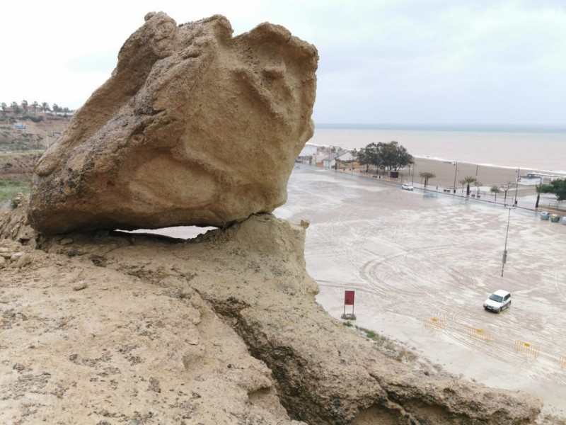 Bolnuevo Erosions damaged by the bad weather
