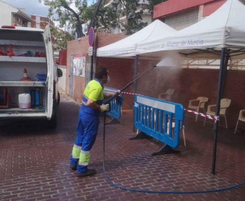 Disinfection campaign continues in Alhama de Murcia