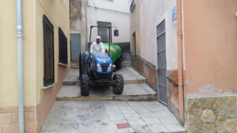 <span style='color:#780948'>ARCHIVED</span> - Jumilla ready for mass disinfection as agriculturalists join the cause