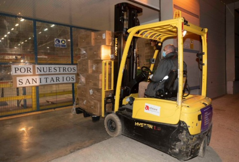 1.7 million facemasks arrive for medical professionals in Murcia