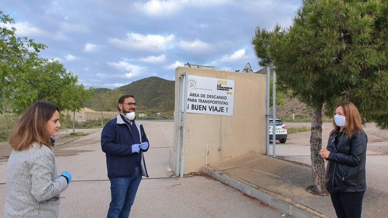 Lorca offers free food, showers and rest area for lorry drivers throughout the Covid crisis