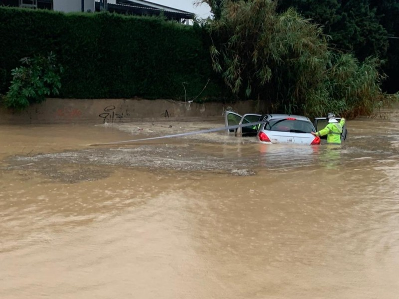 <span style='color:#780948'>ARCHIVED</span> - Violent cloudburst causes localized flooding in parts of Murcia