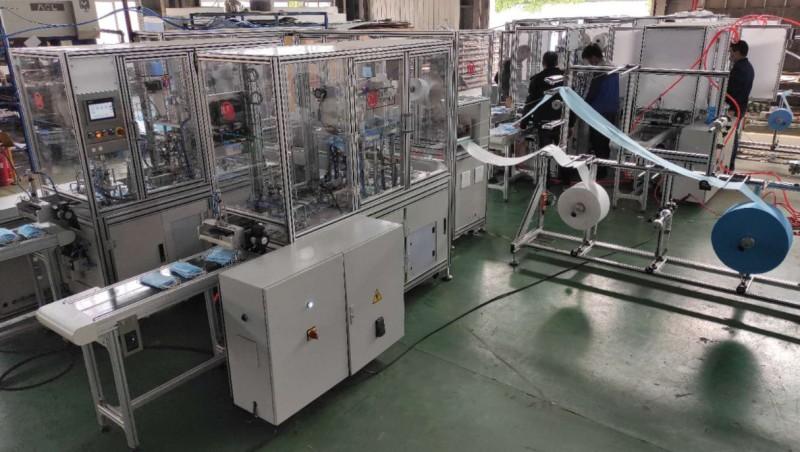 <span style='color:#780948'>ARCHIVED</span> - Facemask mass production machinery arrives in Spain from China