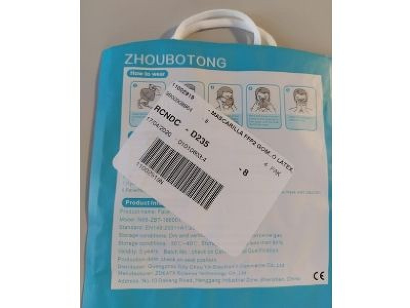 <span style='color:#780948'>ARCHIVED</span> - Batch of potentially defective face masks withdrawn from Murcia Health Service