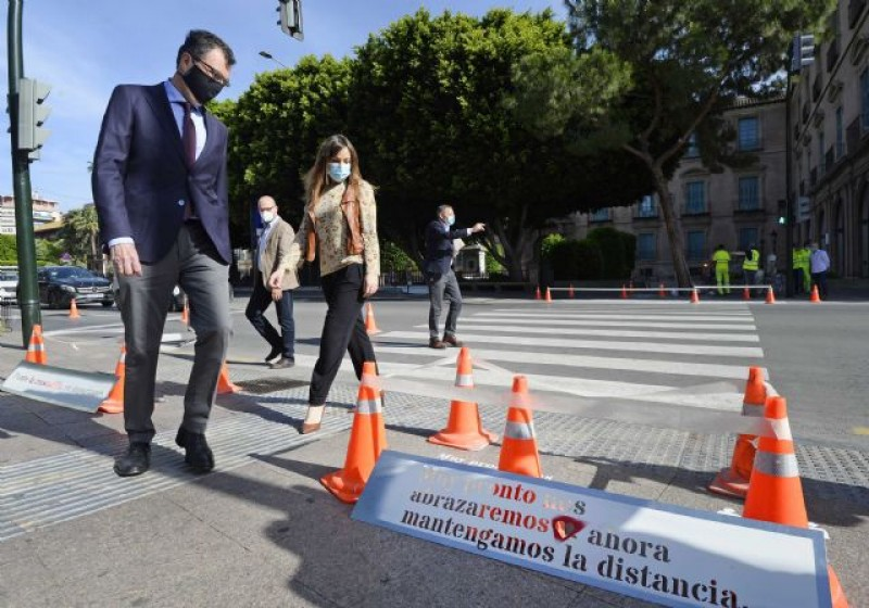 <span style='color:#780948'>ARCHIVED</span> - Murcia extends pedestrian crossings and implements flow system to minimise Covid contagion