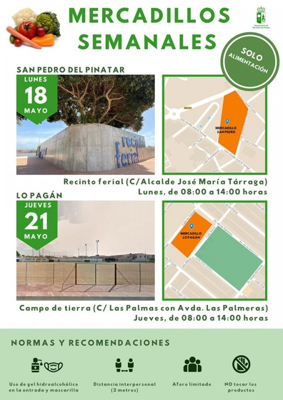 <span style='color:#780948'>ARCHIVED</span> -  Weekly markets open again in Los Alcázares and San Pedro del Pinatar