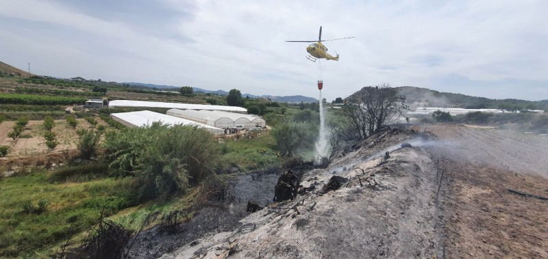 Fire in Cehegín rapidly extinguished on day 2 of summer fire season