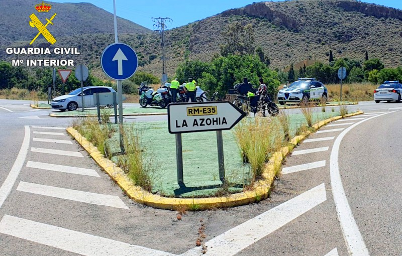 Motorcyclists more than doubling the speed limit caught on Cartagena- Mazarrón road