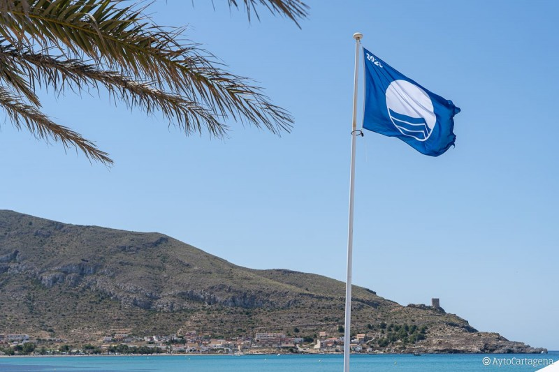 Blue flag beaches in the municipality of Cartagena 2020