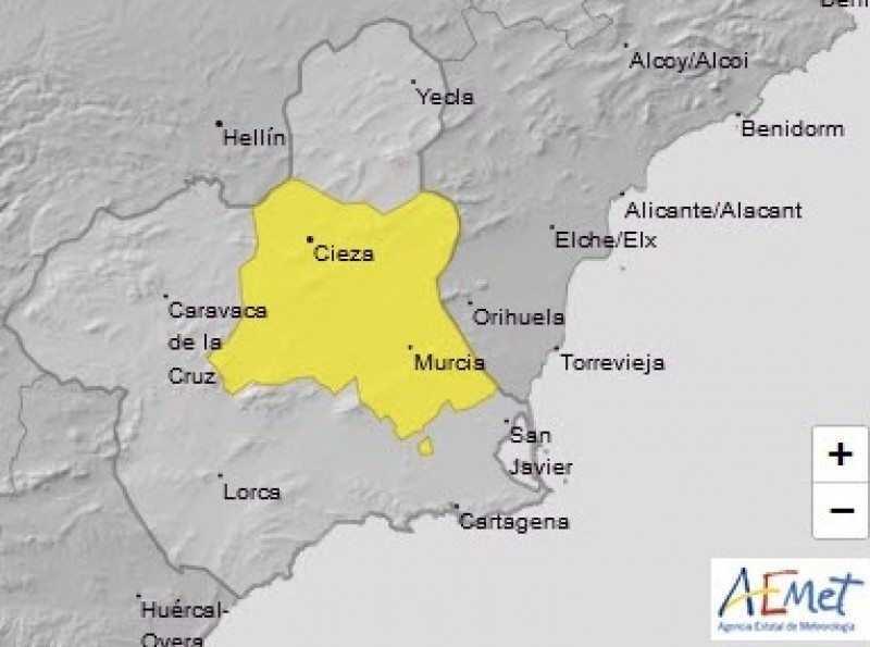 <span style='color:#780948'>ARCHIVED</span> - Murcia on alert for up to 37 degrees on Saturday