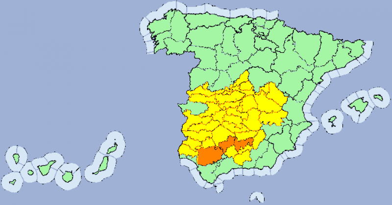 <span style='color:#780948'>ARCHIVED</span> - Maximums in the mid-30's for Murcia on Monday