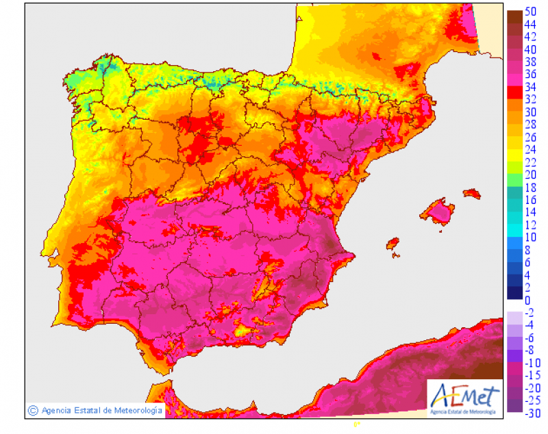 <span style='color:#780948'>ARCHIVED</span> - WARNING : Orange heat alert for up to 40 degrees on Wednesday in Murcia Region