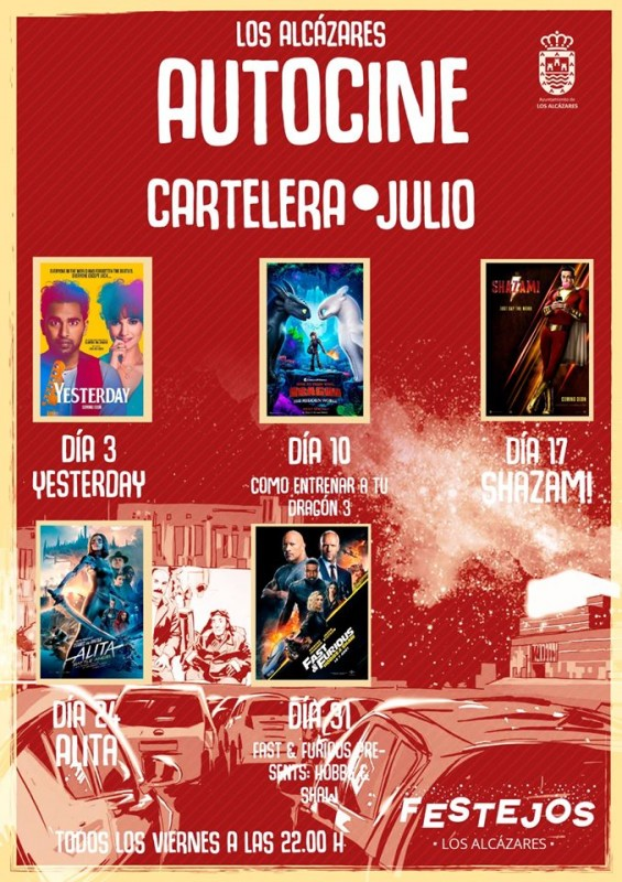 <span style='color:#780948'>ARCHIVED</span> - Every Friday in July and August Los Alcázares Autocine