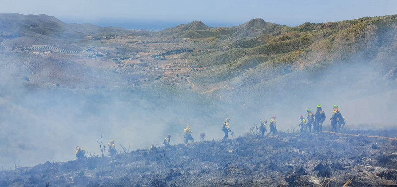 <span style='color:#780948'>ARCHIVED</span> - Hillside fire in Fuente Álamo as temperatures soar