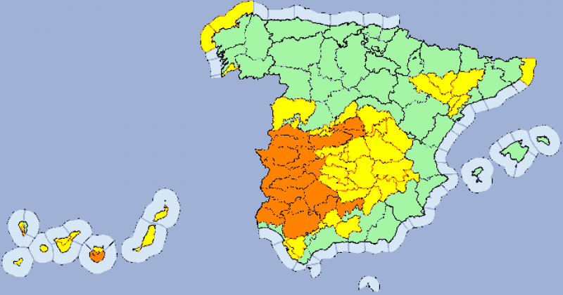 <span style='color:#780948'>ARCHIVED</span> - Maximums in the high 30s for Murcia on Monday