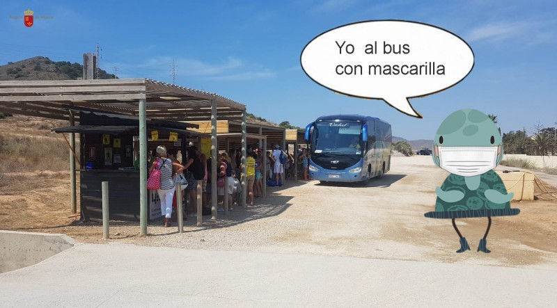 Calblanque 4:40 bus service begins on 11th July to beaches of Calblanque regional park