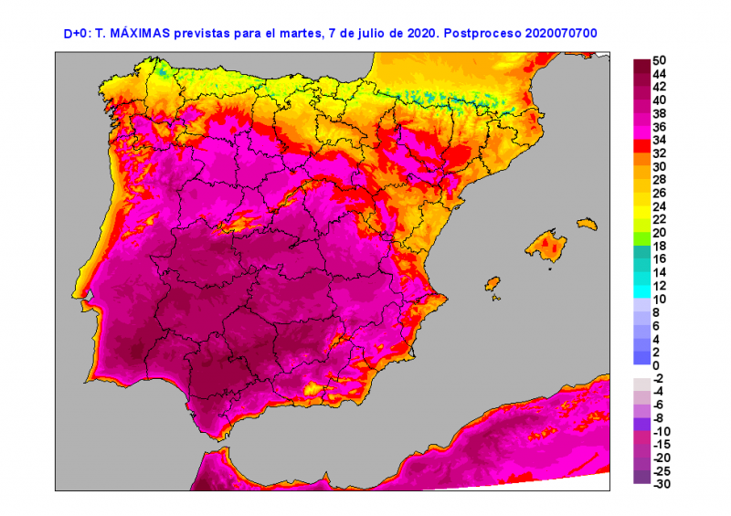 Archena and Lorca both exceeded 38 degrees on Tuesday