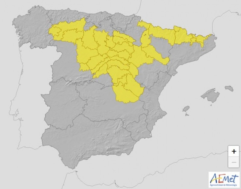 <span style='color:#780948'>ARCHIVED</span> - Mid 30s for Murcia Region on Thursday