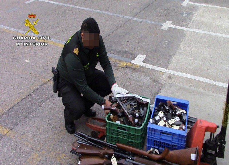 More than 3,000 firearms were destroyed in Murcia last year