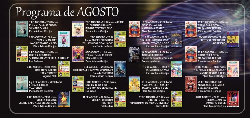 <span style='color:#780948'>ARCHIVED</span> - Águilas entertainments programme for July and August