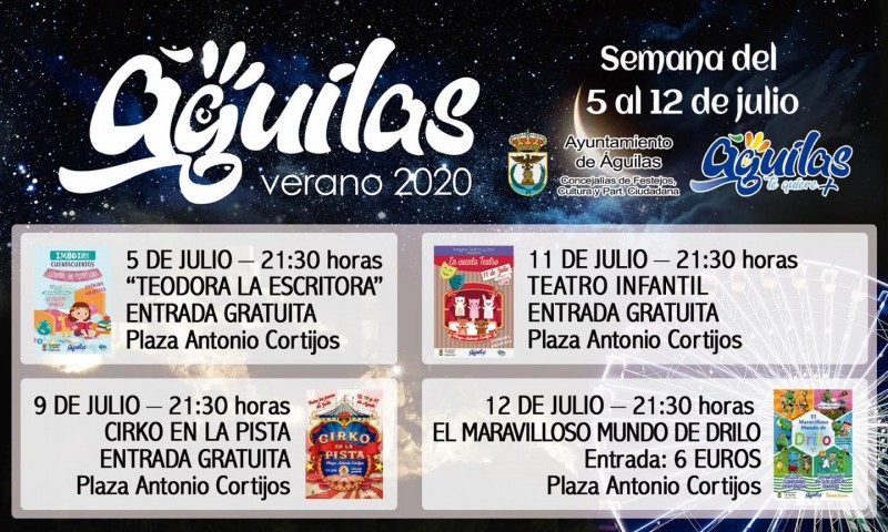 Águilas family theatre 11th and 12th July