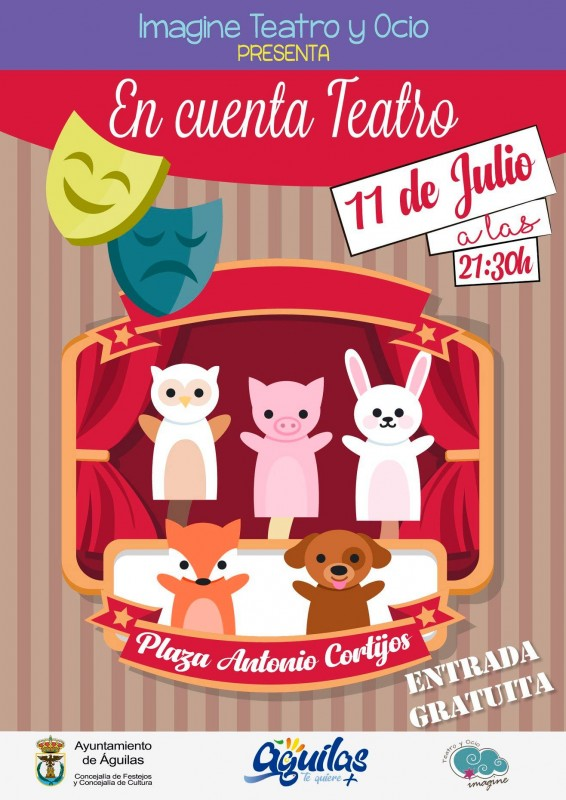 <span style='color:#780948'>ARCHIVED</span> - Águilas family theatre 11th and 12th July