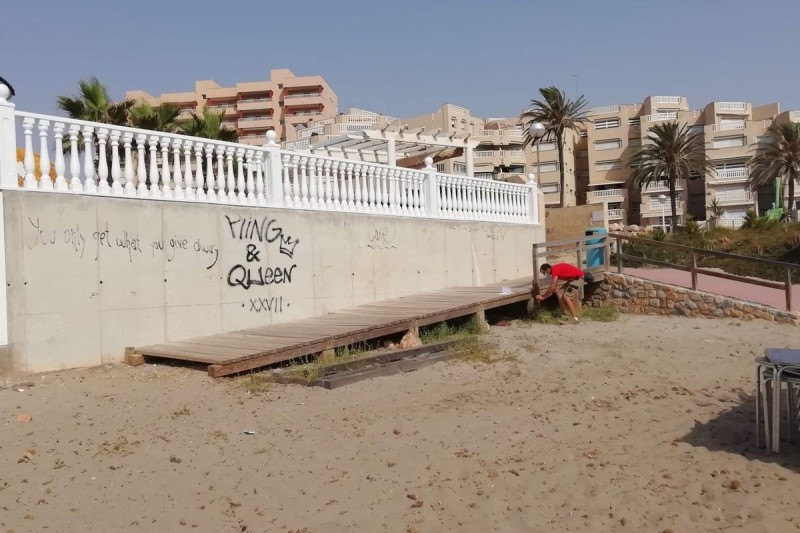 <span style='color:#780948'>ARCHIVED</span> - 19,000 euros worth of beach repairs in la Manga and Cabo de Palos