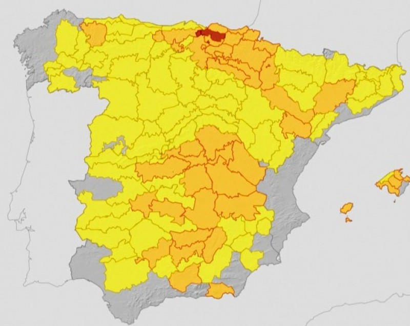 <span style='color:#780948'>ARCHIVED</span> - Heatwave over Spain on Thursday and Friday