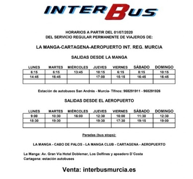 <span style='color:#780948'>ARCHIVED</span> - Bus routes and taxi information from Corvera airport 2020