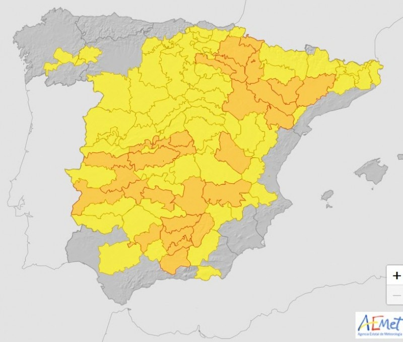 <span style='color:#780948'>ARCHIVED</span> - Heatwave spreads across Spain; alerts for Murcia region on Saturday and Sunday for 37-43 degrees Celsius