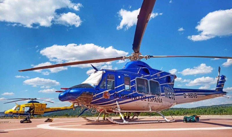 <span style='color:#780948'>ARCHIVED</span> - Firefighting helicopter stolen in Cuenca while pilot was asleep