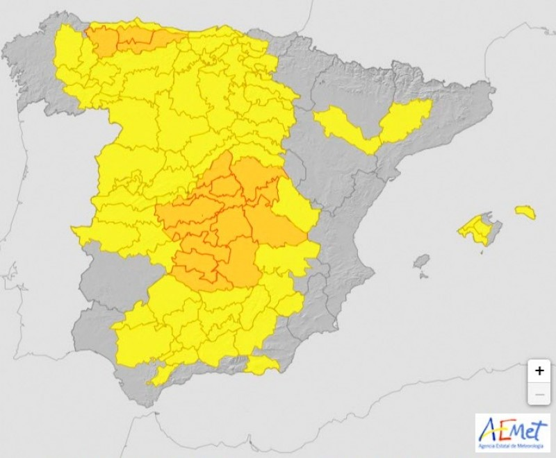 <span style='color:#780948'>ARCHIVED</span> - Storm warning for north-west Murcia on Tuesday afternoon