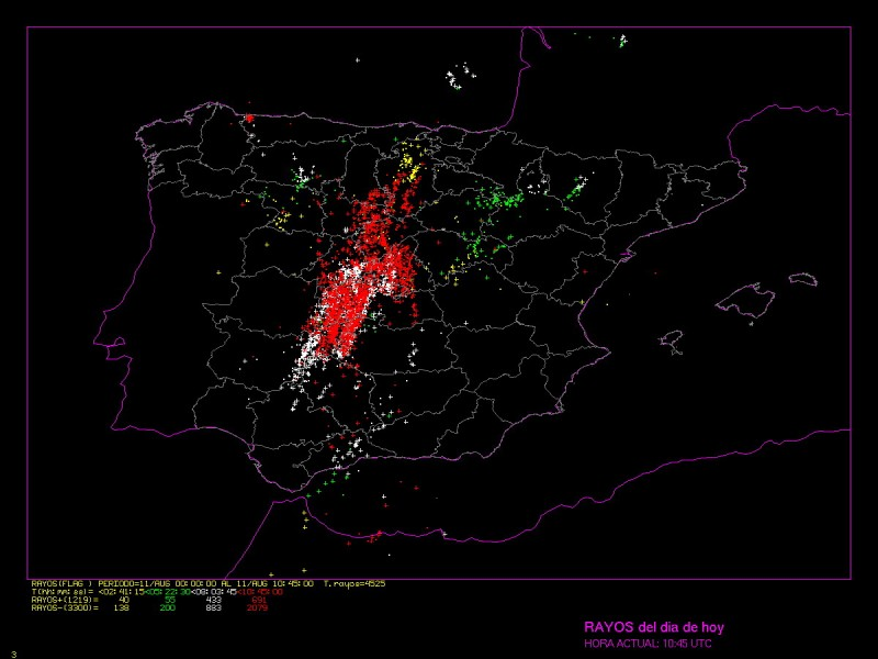 <span style='color:#780948'>ARCHIVED</span> - Over 15,200 lightning discharges over Spain in the last 24 hours