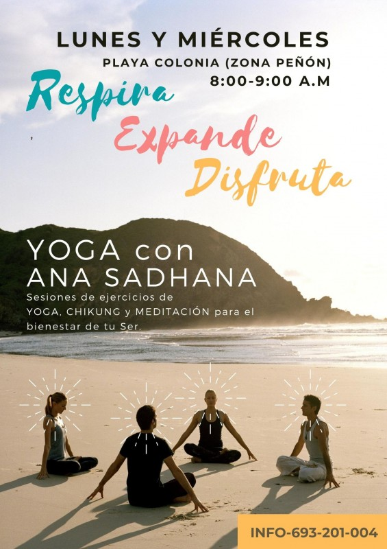 <span style='color:#780948'>ARCHIVED</span> - Monday and Wednesday; Yoga on the beach in Águilas