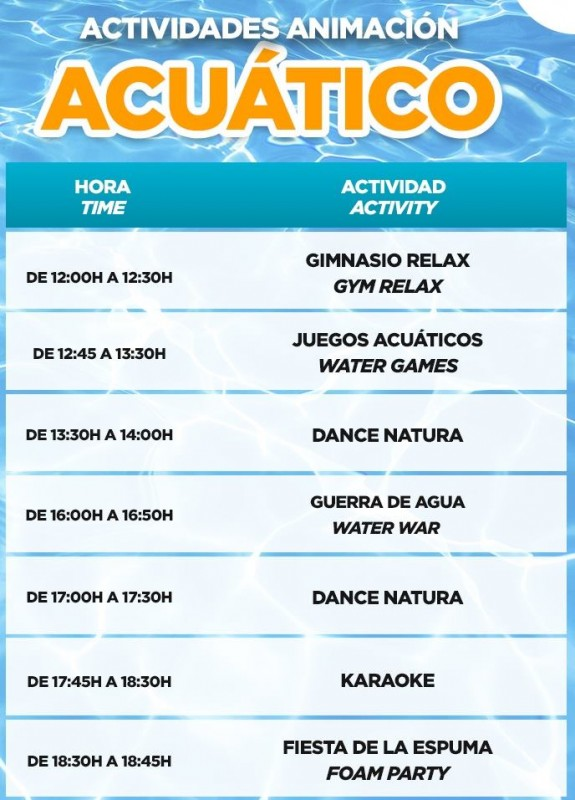 <span style='color:#780948'>ARCHIVED</span> - Foam party, water games, water fight.....every day cooling games at Terra Natura Murcia