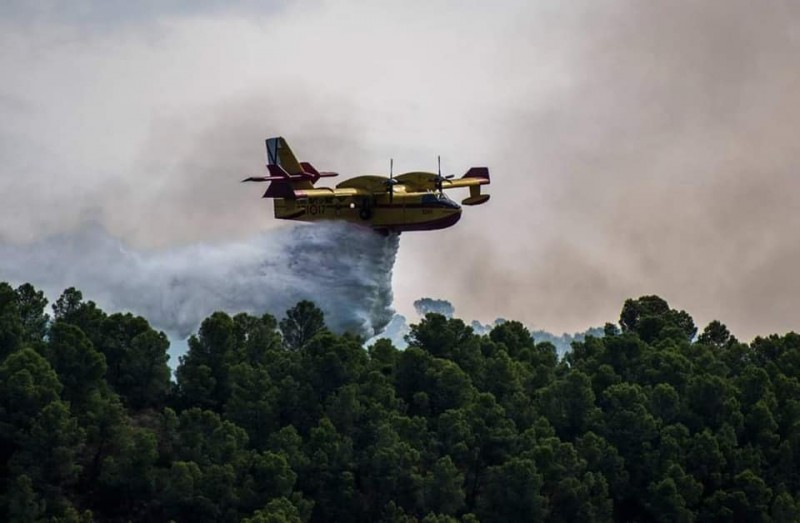 <span style='color:#780948'>ARCHIVED</span> - Fire between Mula and Bullas declared under control