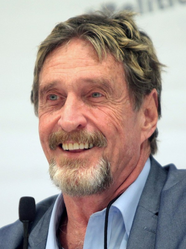 <span style='color:#780948'>ARCHIVED</span> - US magnate John McAfee arrested at Barcelona airport