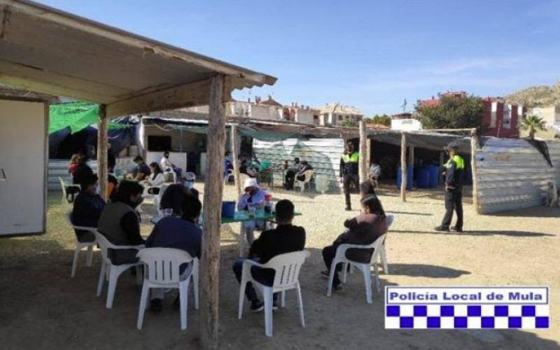 Mula police break up meal attended by more than 40 people