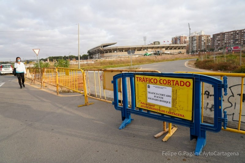 <span style='color:#780948'>ARCHIVED</span> - Cartagonova bridge in Cartagena closed for two weeks