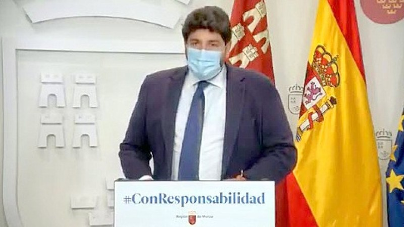 <span style='color:#780948'>ARCHIVED</span> - Murcian regional president supports state of emergency and curfew measures