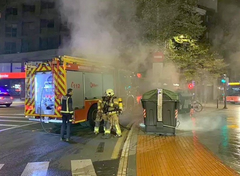 <span style='color:#780948'>ARCHIVED</span> - Six covid deniers arrested in Bilbao following violent protests
