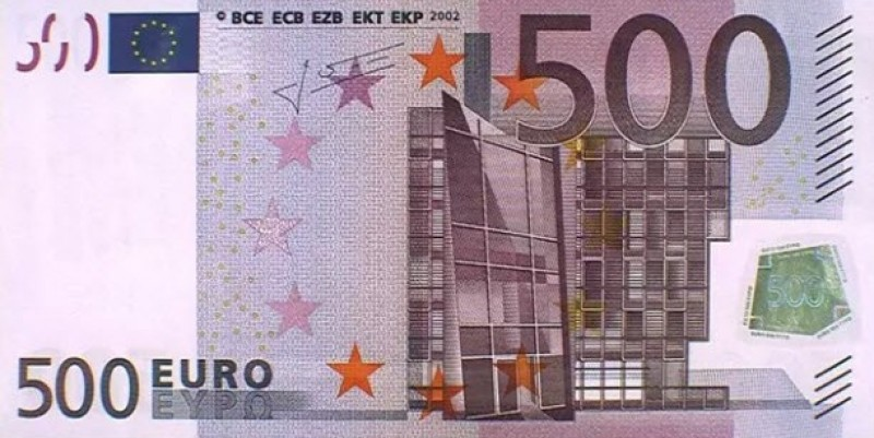 <span style='color:#780948'>ARCHIVED</span> - Number of 500 euro banknotes circulating in Spain at lowest level since April 2002
